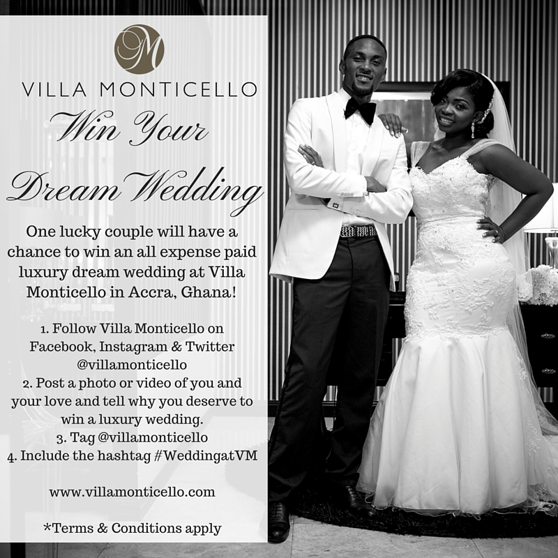 one lucky couple will have a chance to win an all expense paid luxury dream wedding at villa monticello click the image below for full details on how to